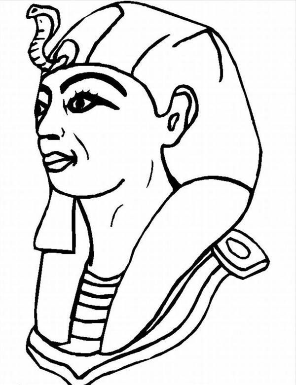 Pharaoh Coloring Pages 10 A Typical Figure Of Pharaoh From Ancient ...