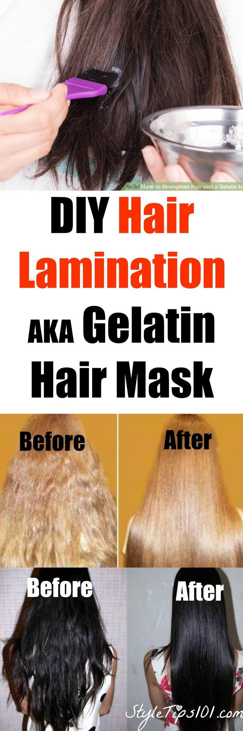 DIY Hair Lamination | Haarfrisuren selber machen