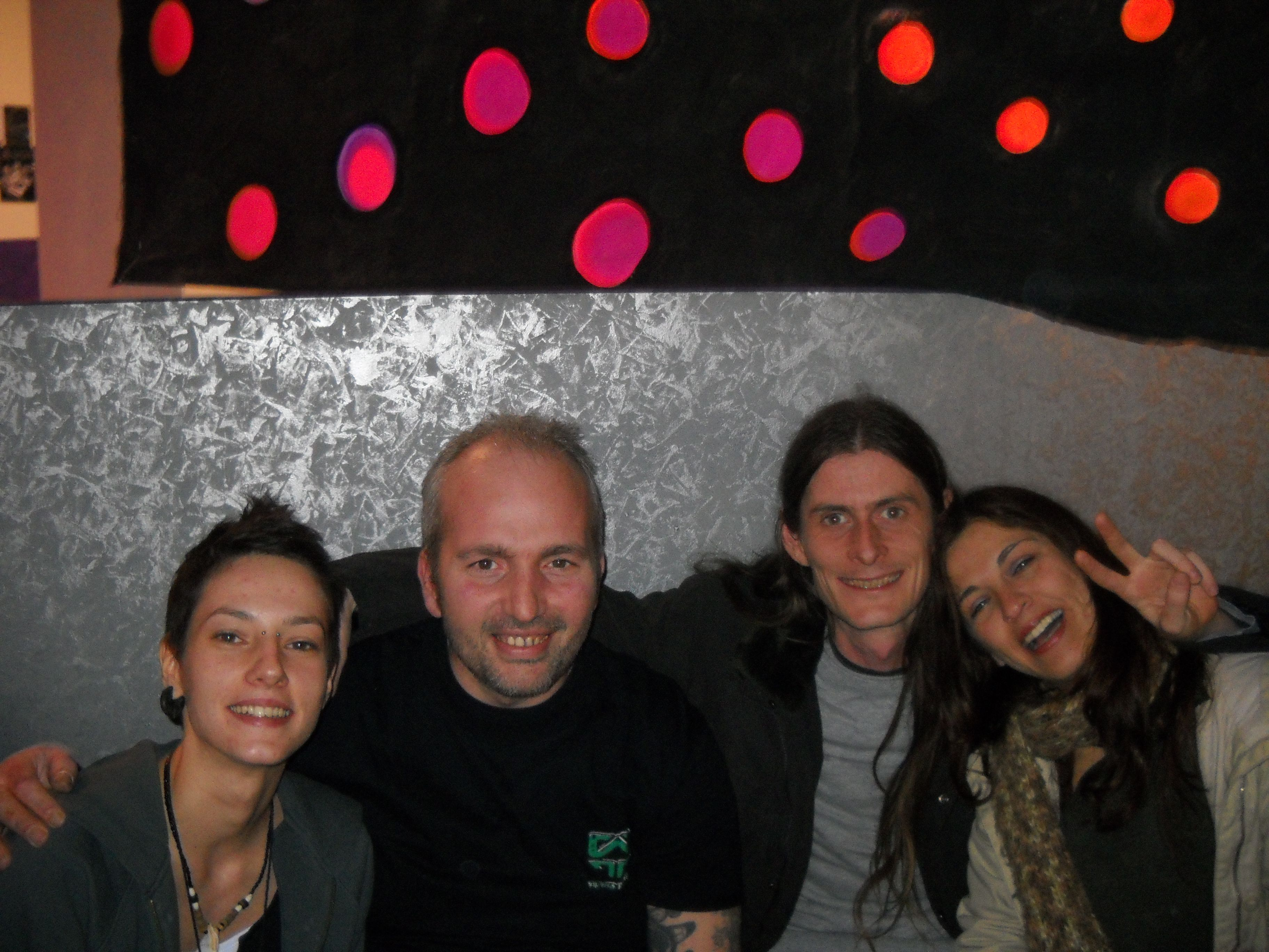 At a party in Italy, Marche 2011 with a bunch of freaks....