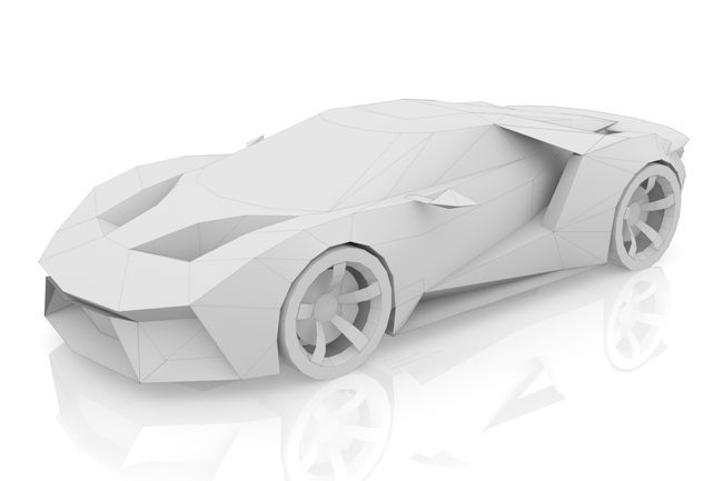 Ford GT Legend Ghost Paper Car Free Vehicle Model Download