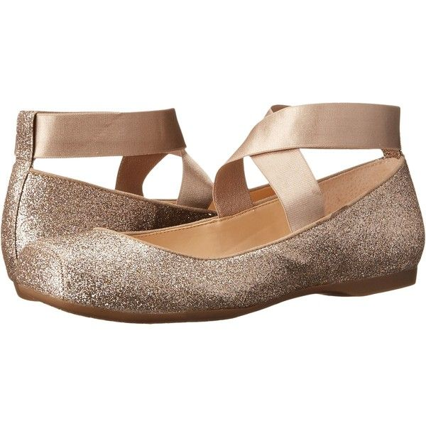 Jessica Simpson Mandalaye Women's Shoes, Gold ($38) ❤ liked on Polyvore  featuring shoes