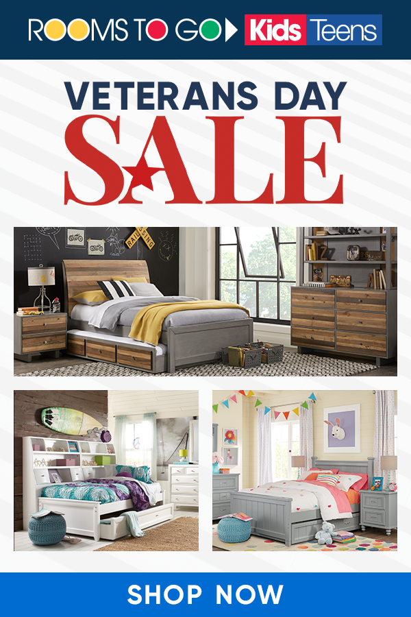 Awesome Designs Awesome Deals Shop Our Veterans Day Sale Today To Save On Kids Furniture Rooms To Go Kids Rooms To Go Furniture