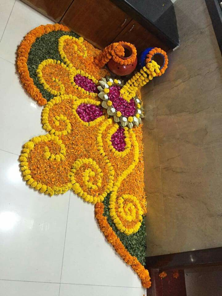Image result for diwali decoration FLOWER Rangoli