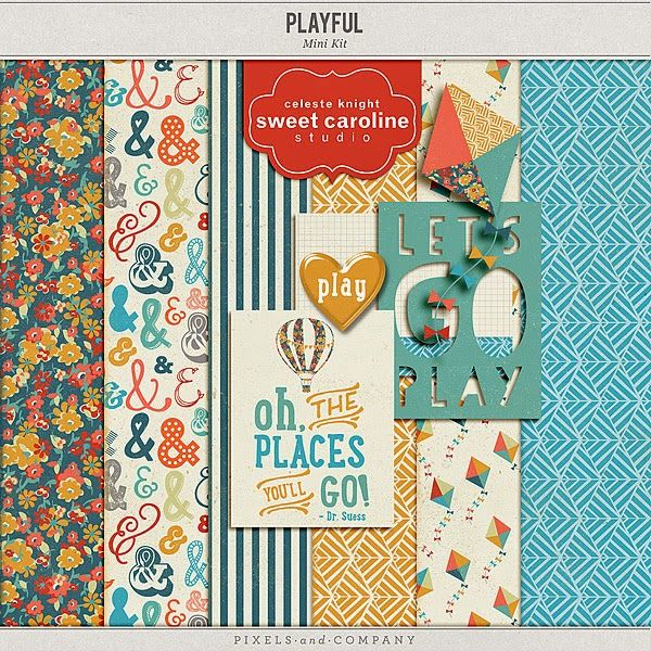 Free Playful Mini Kit from Sweet Caroline Studio {part of the DigiScrap Parade}