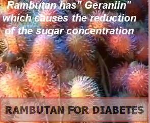 rambután y diabetes