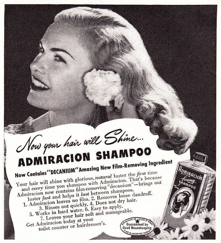 1947 Ad, Admiracion Foamy Shampoo