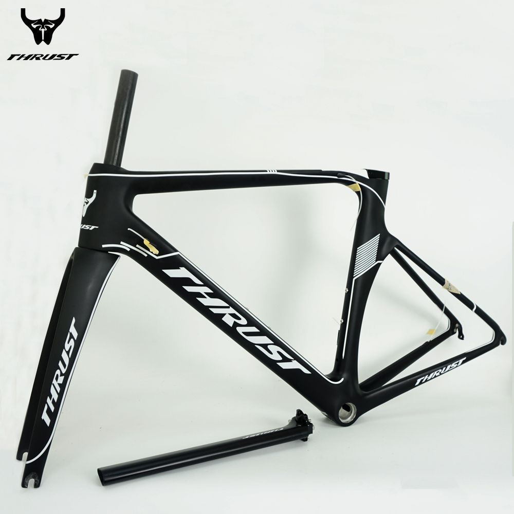 THRUST Carbon Bike Frame 700C Road Bicycle Carbon Road Frame BSA BB30  Chinese Carbon Frames 480