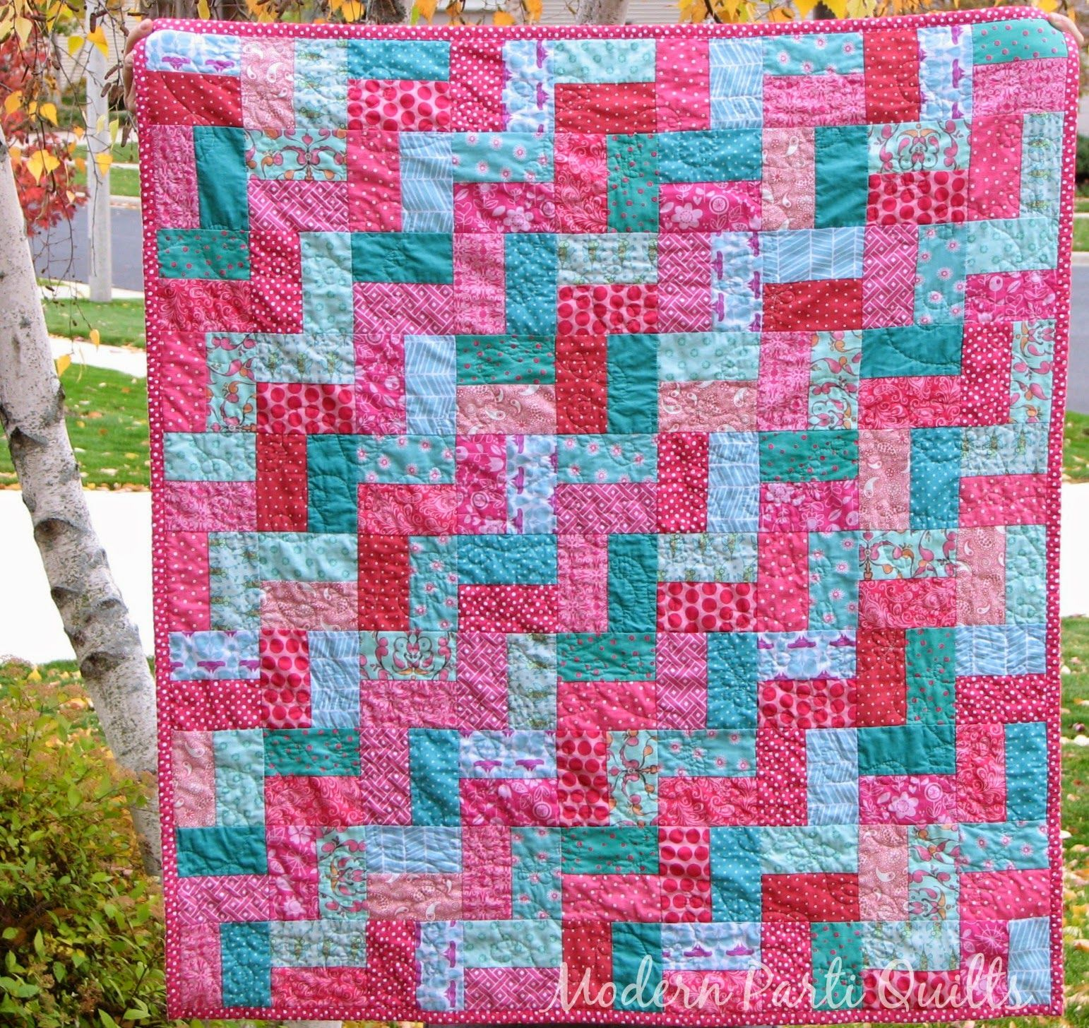 Modern Parti Quilts: Finished Gumballs