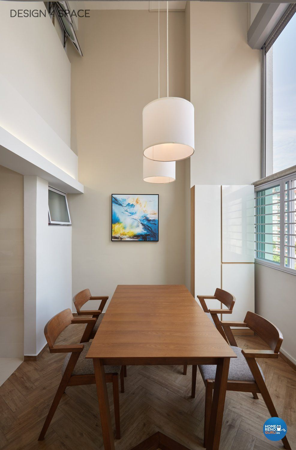 Contemporary Design Dining Room Hdb Executive Apartment By 4 E Pte Ltd