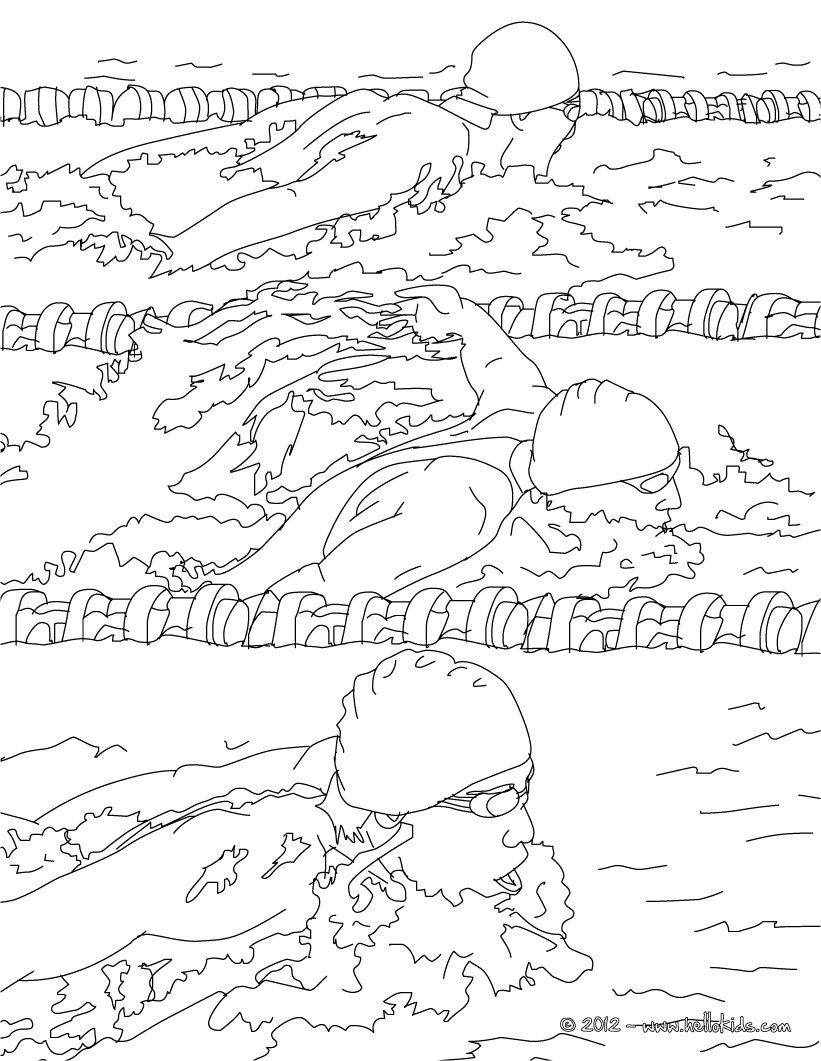 lovely breaststroke swimming race coloring page more sports