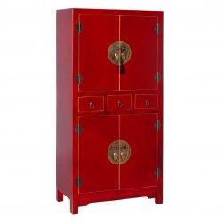 Mueble chino armario rojo rub 4 puertas muebles chinos for Muebles orientales madrid