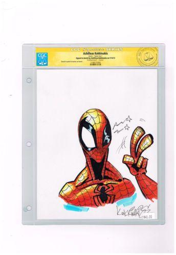 "ORIGINAL ART: CGC Signature Series ""Spider-Man"" by Achelleas Kokkinakis! http://r.ebay.com/hxfX5K"