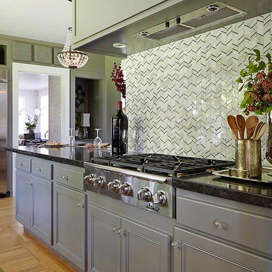 Houten Keuken Creative Kitchen Backsplash Ideas: Kitchen Backsplash Ideas: Tile Backsplash