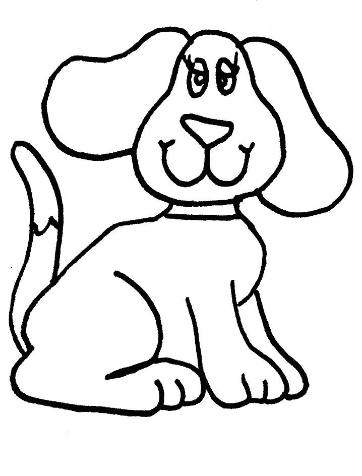 Dog Coloring Pages For Kids Preschool Crafts Dog