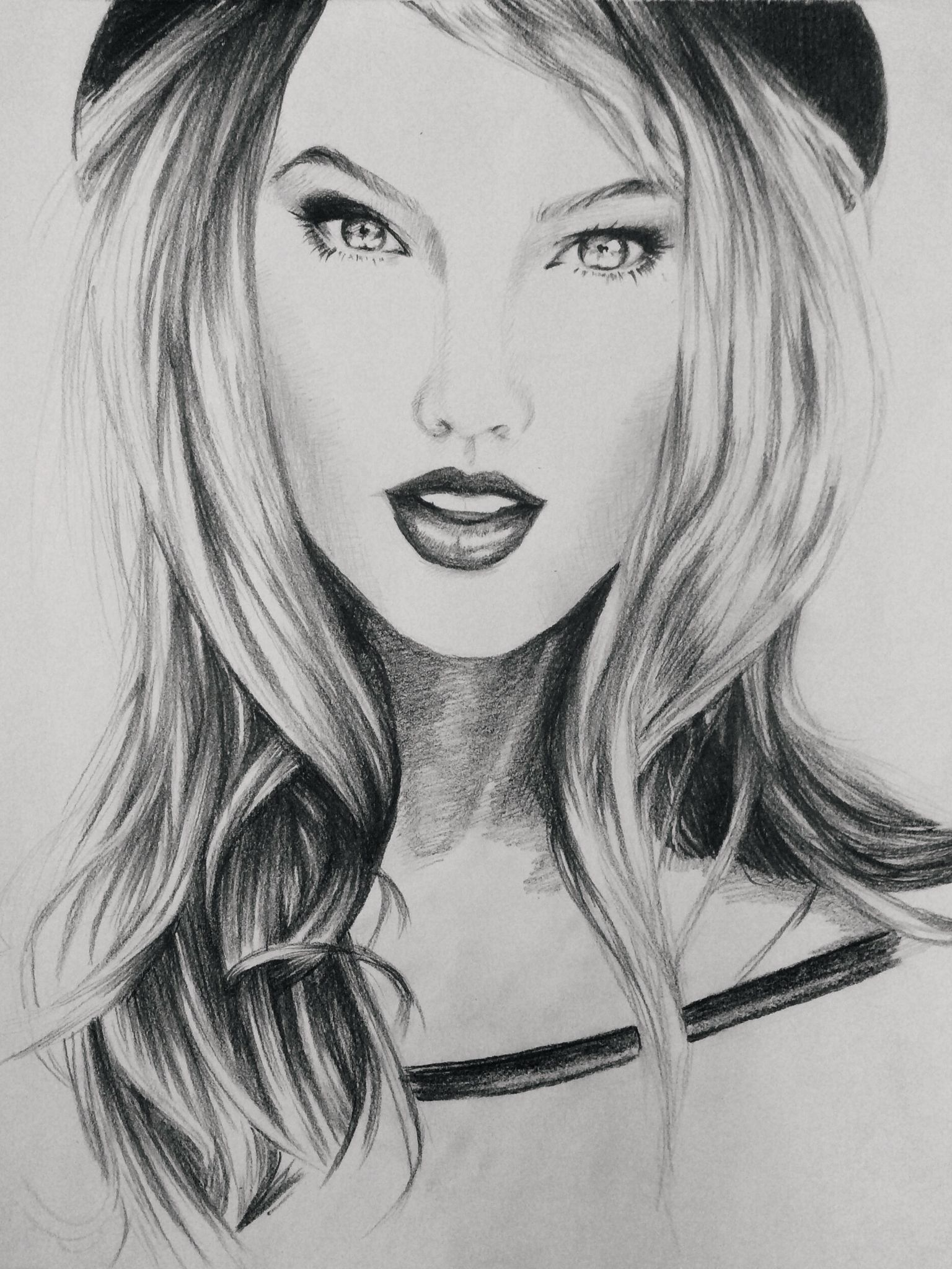 Taylor swift portrait in pencil drawing art taylorswift sketch