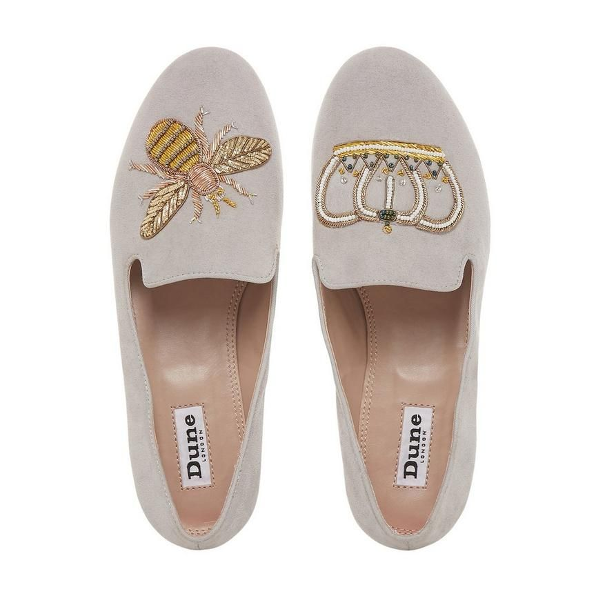 add5b74a8 Exude preppy style with this Giorgette Queen Bee loafer by Dune London. A slipper  cut