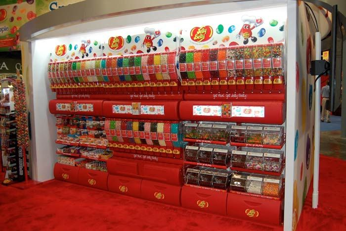 jellybelly setup a wall of jelly bean filled plastic. Black Bedroom Furniture Sets. Home Design Ideas