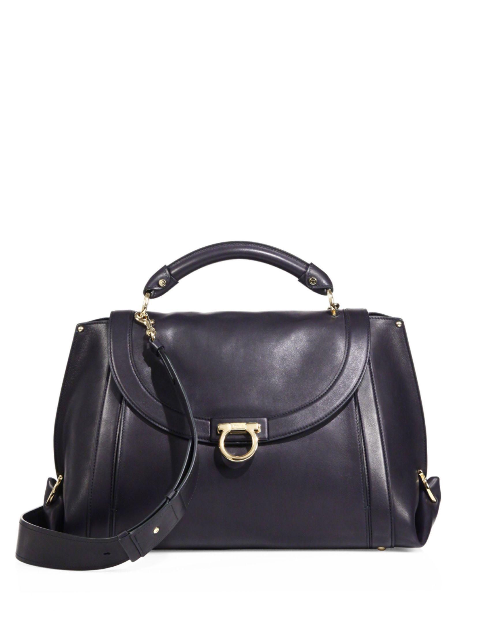 e8a1d434722a Salvatore Ferragamo Soft Sofia Large Leather Top Handle Bag   Things ...