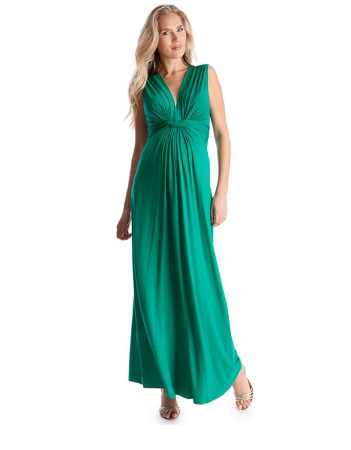 Emerald Knot Front Maternity Maxi Dress. For Maternity Inspiration ...