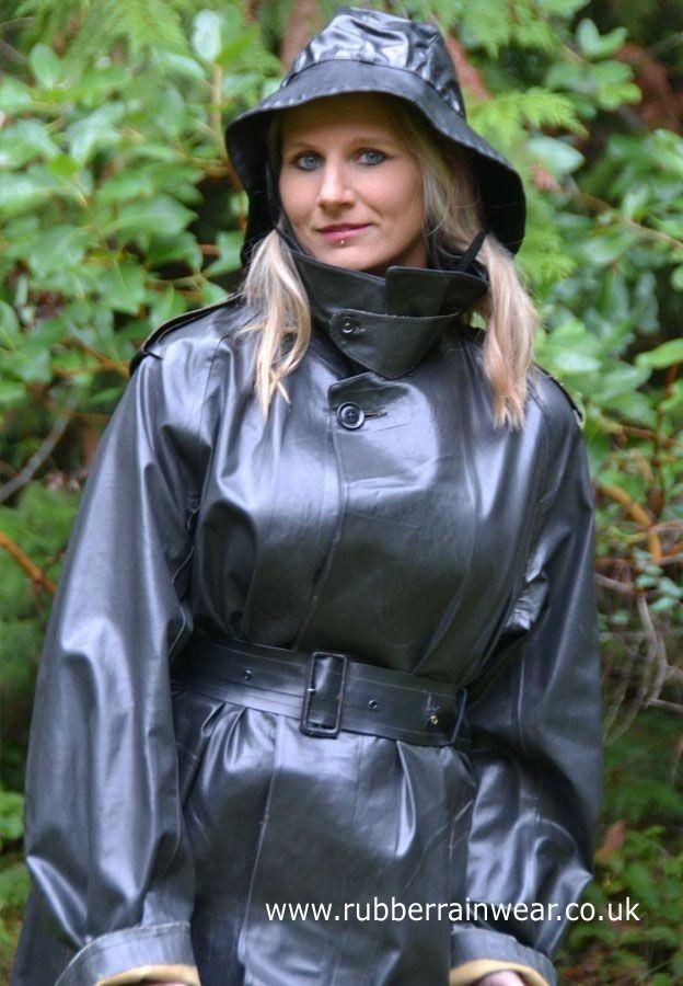 Masturbate her rubber raincoat
