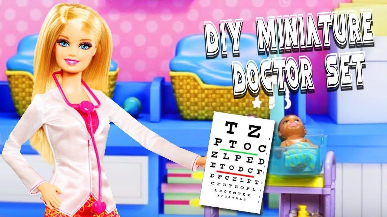 DIY Miniature Barbie Doctor Set / Medical Set - 10 Easy DIY Miniature Doll Crafts