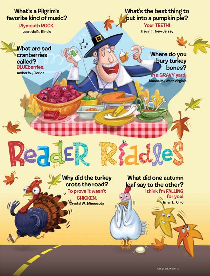 Thanksgiving Riddles from Ranger Rick magazine Jokes and