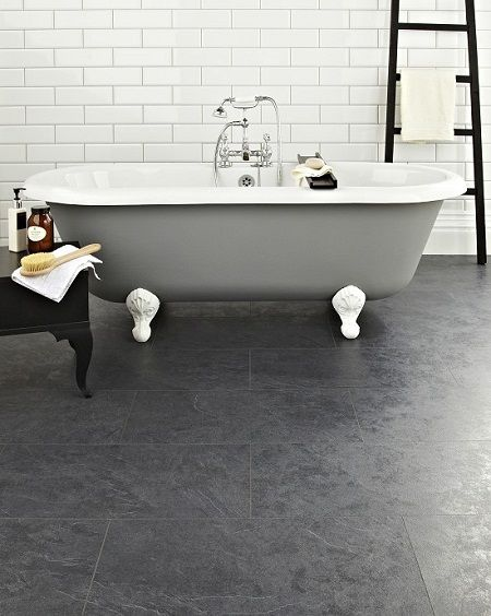 White Bathroom Laminate Flooring slate looking laminate flooring | they don't have to be wood