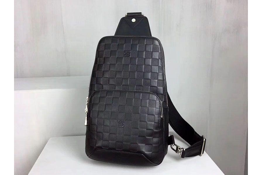 éclatant comment avoir 100% authentifié Louis Vuitton Avenue Sling bags Damier Infini Leather N41720 ...