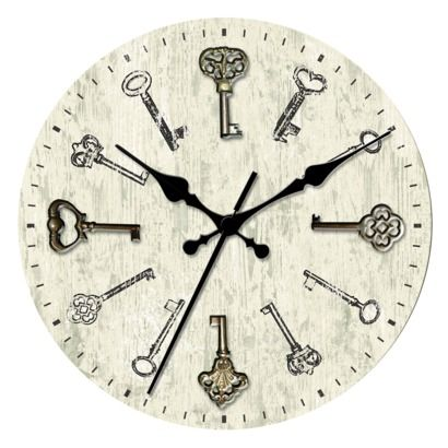 target clocks living room pictures of chairs threshold wall clock with antique keys in