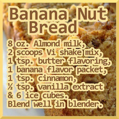 Visalus Banana Nut Bread Shake Herbalife Shake Recipes Shake Recipes Banana Nut Bread