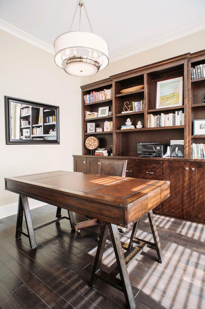 Home Office Transitional design ideas for Black Campaign Desk