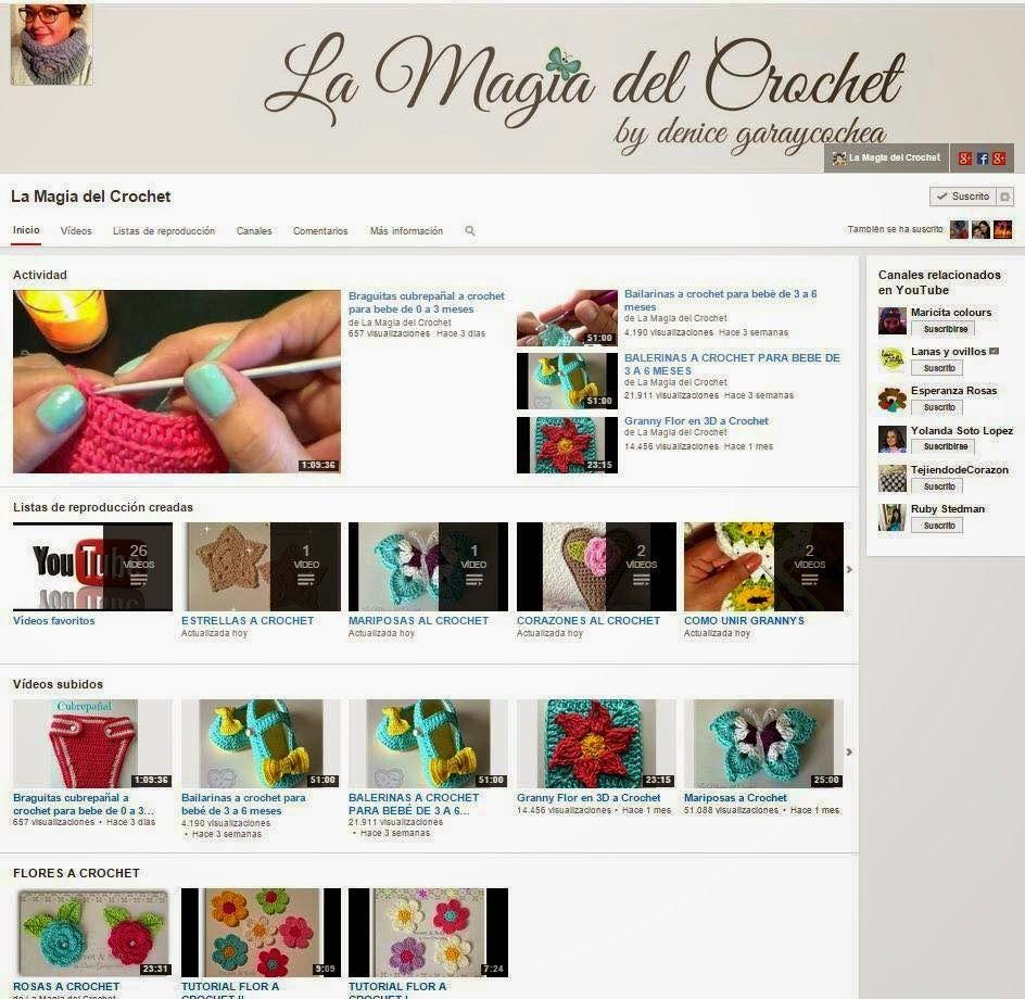 La Magia del Crochet: Canal de la Magia del Crochet en Youtube ...
