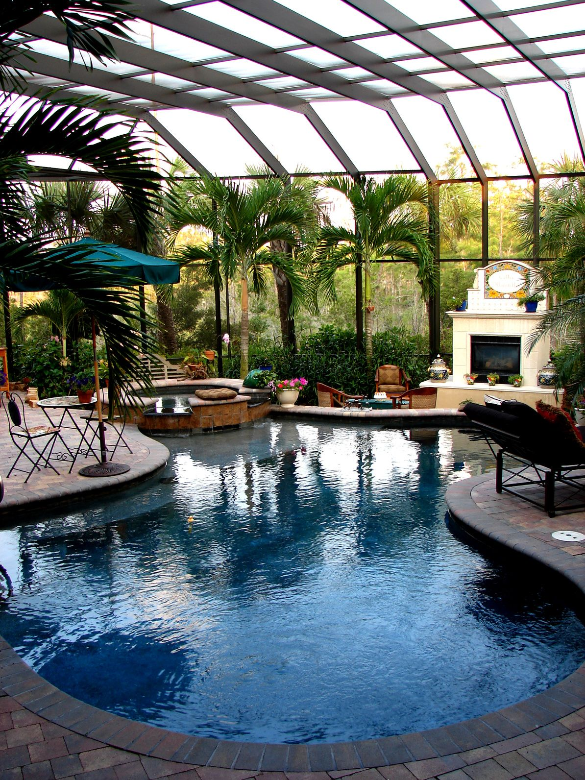 Jacksonville fl in addition fiberglass pools jacksonville fl on home - Large Screened In Pool Pools Patios And Outdoor Living Pinterest Backyard Swimming Pools And Outdoor Spaces