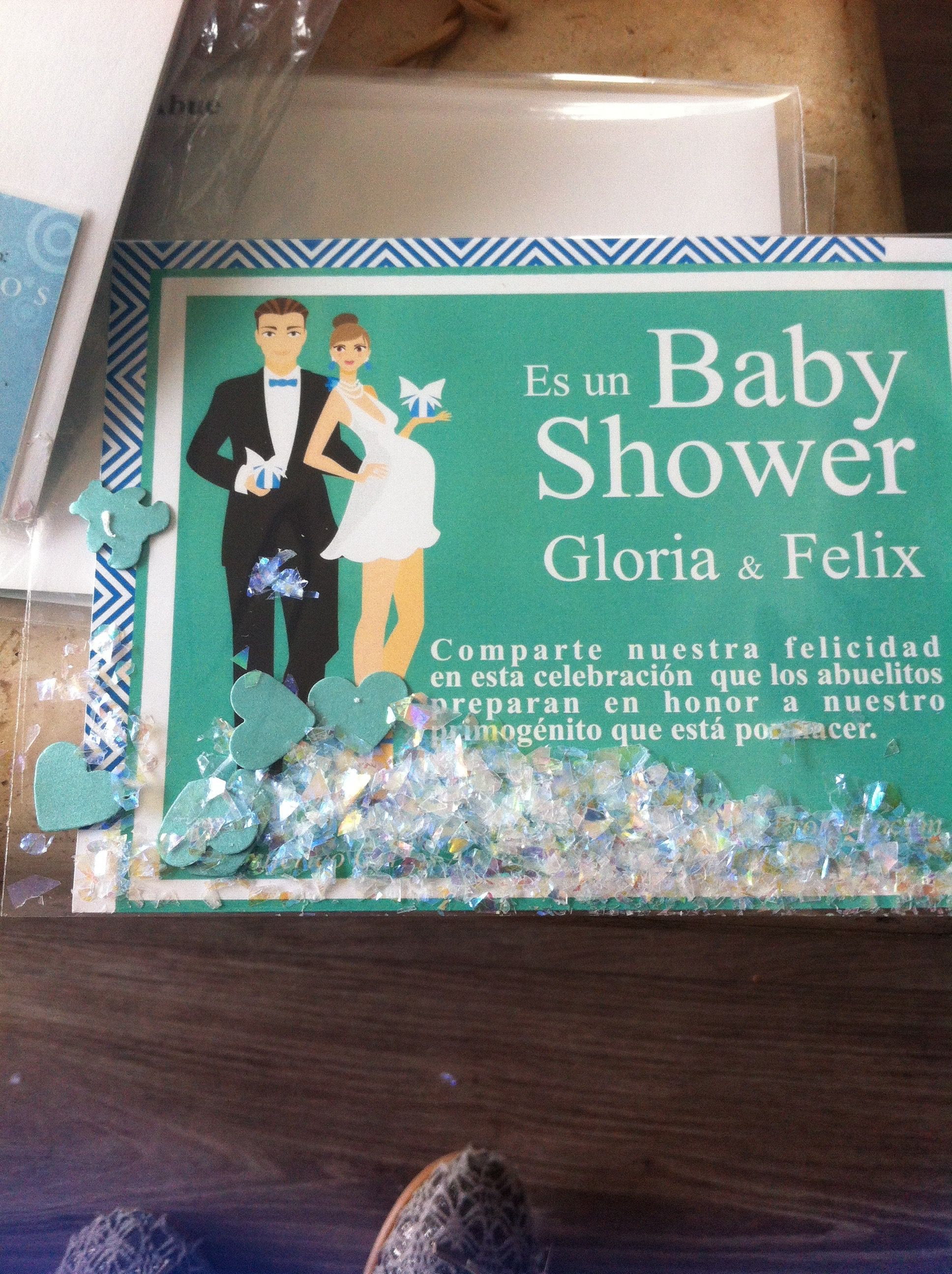 Invitación para Baby Shower con mucho Glam! y amor ;D