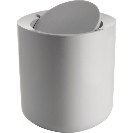 Alessi Birillo White Designer Compact Bathroom Waste Bin Pl10 W 42 50