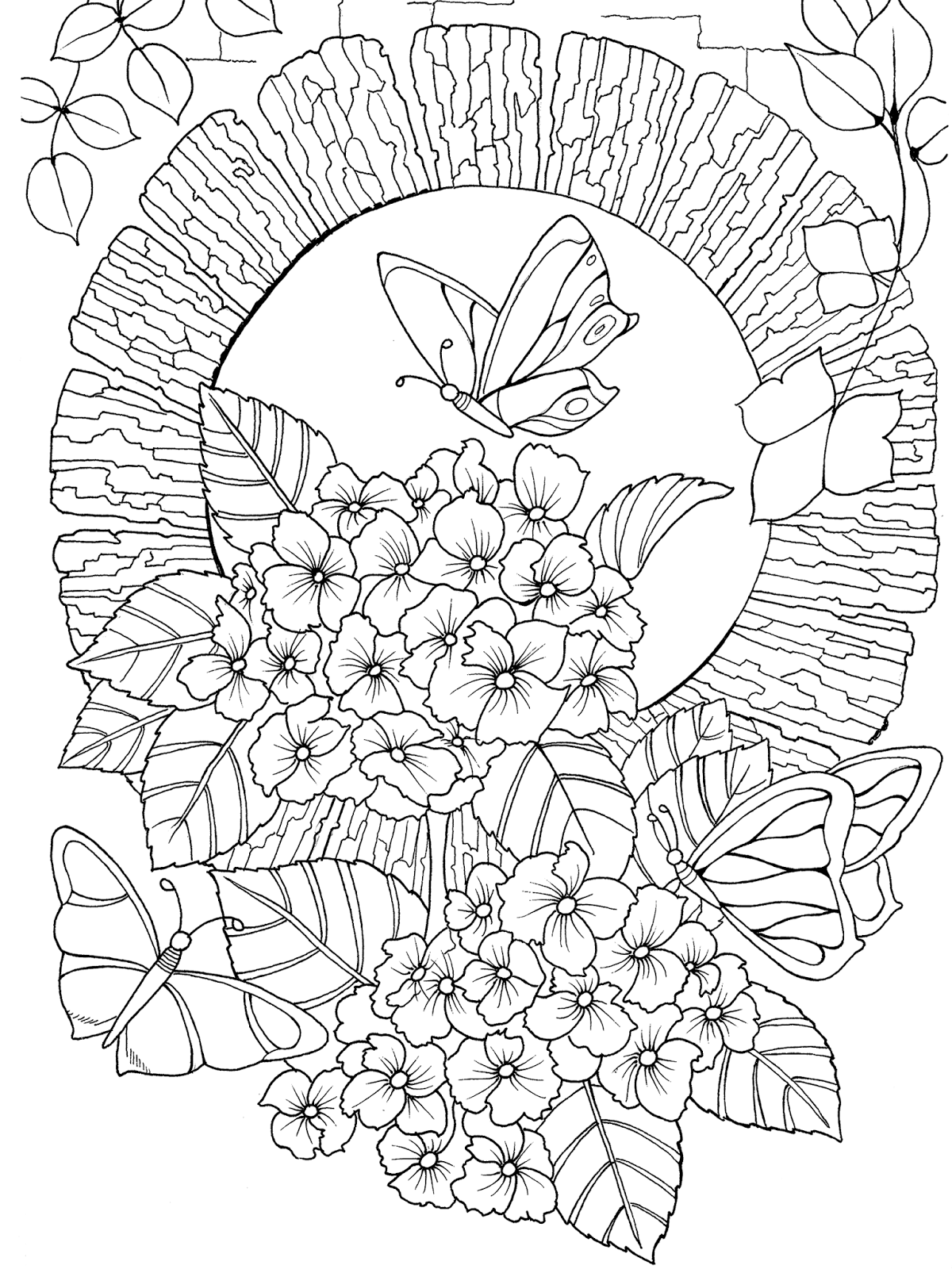Butterfly Utopia Adult Coloring Book 4 Png 1 200 1 600 Pixels