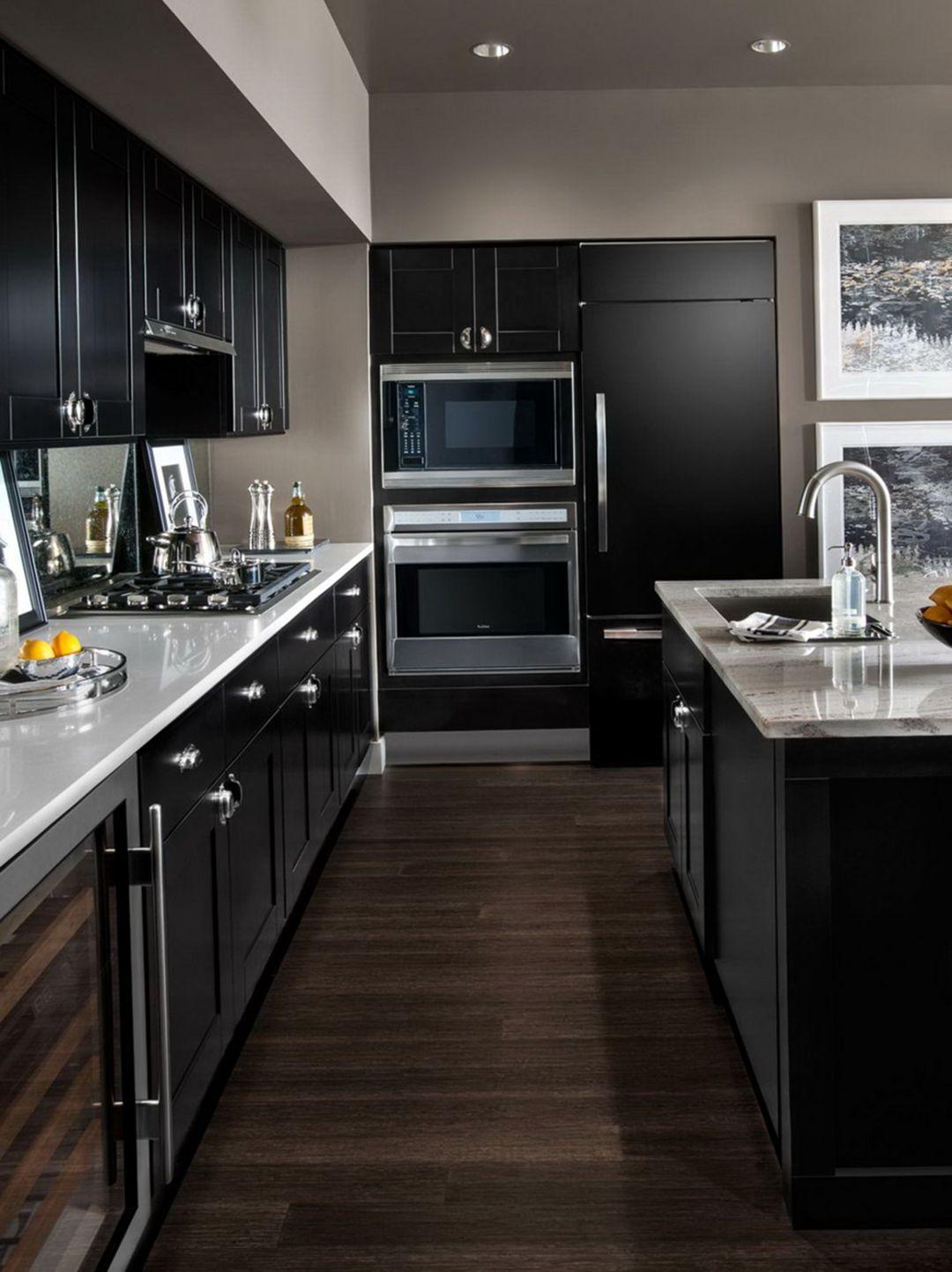 10+ Elegant Black Kitchen Color Schemes Ideas   Kitchen ...
