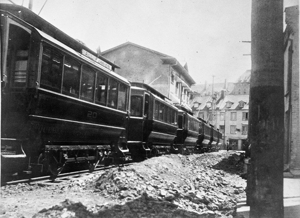 Ville De Quebec Tramways 19 Juillet 1897 Debut Du Tramways