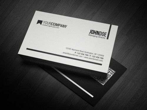 Minimal QR Code Business Card Pinterest Qr Code
