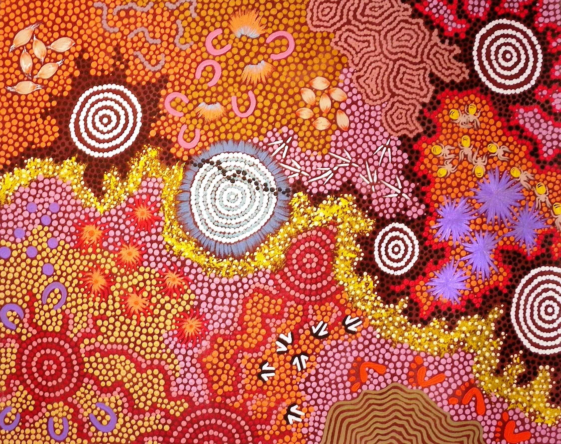 Aboriginal art rougette gallery australian aboriginal for Australian mural artists