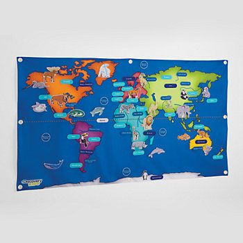 Discovery kids world map classroom pinterest discovery kids fabric activity world map 76 piece learning activity by gumiabroncs Image collections