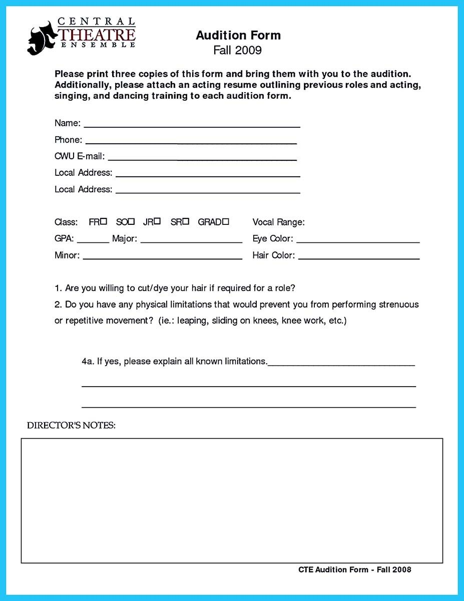 Cool Learning To Write An Audition Resume Check More At Http