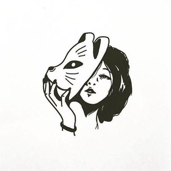 Необычные черно-белые картинки, рисунки для срисовки ...