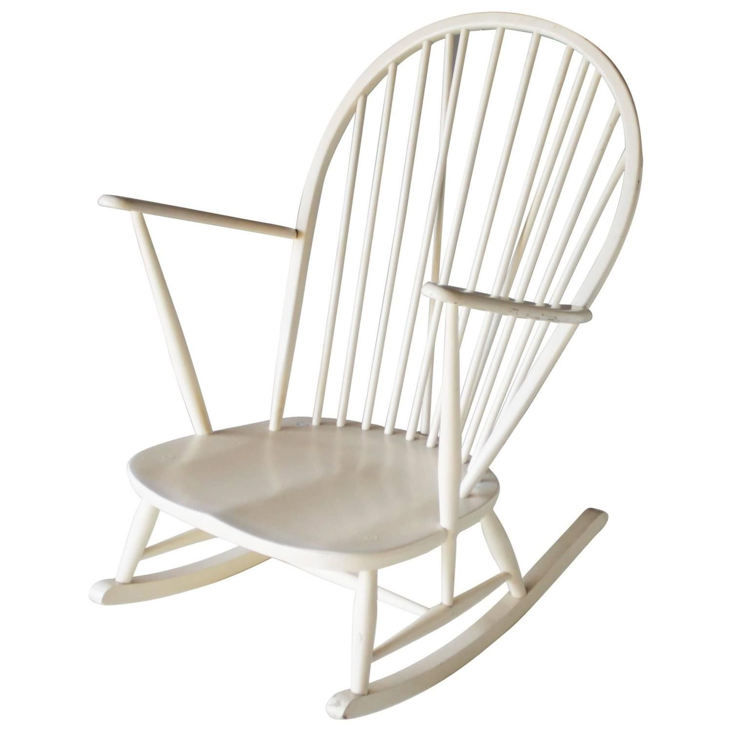 Price reduced sturdy wooden vintage rocking chair made in yugoslavia - Rocking Chair By Lucian Ercolani For Ercol