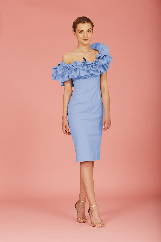 Coosy - VESTIDO MAGNOLIA AZUL | Coosy SS17 | Pinterest | Magnolias ...
