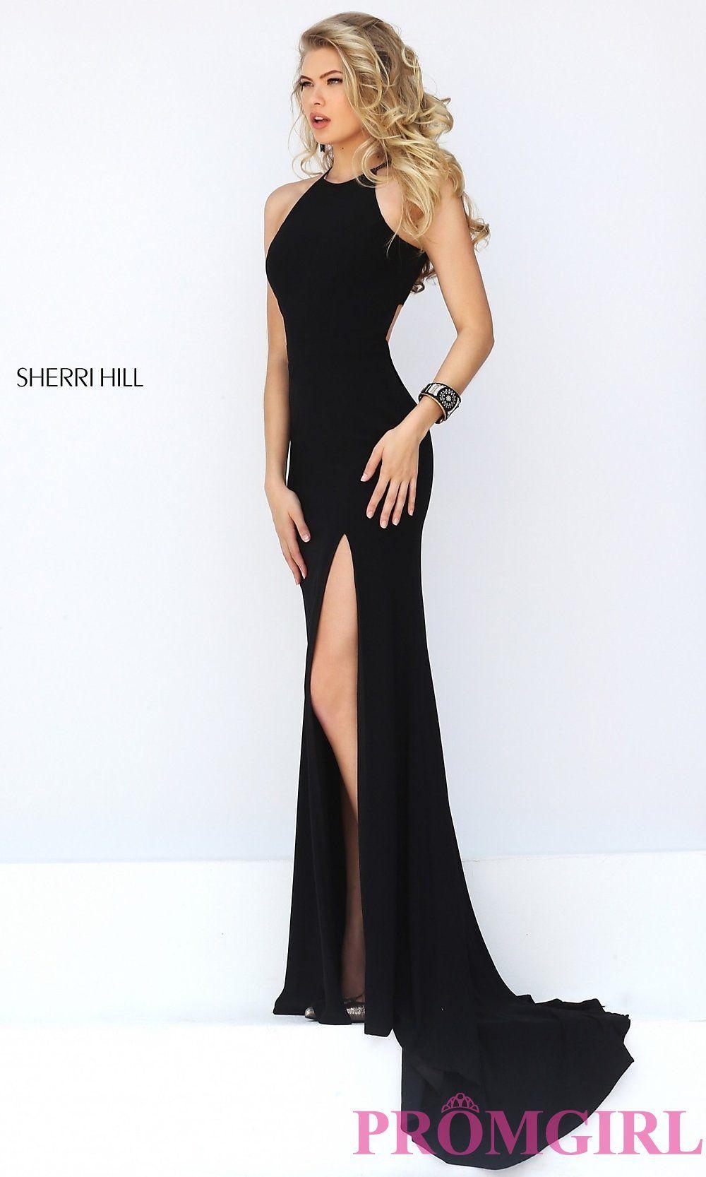 Long Open Back Sherri Hill Prom Dress-PromGirl | Prom Dresses ...