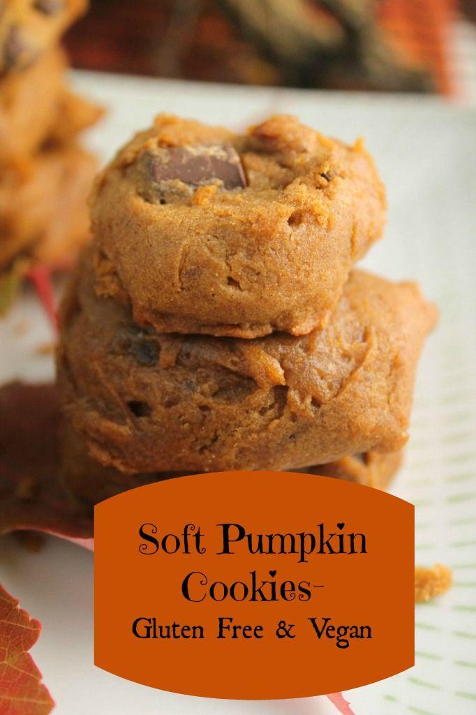 Soft Pumpkin Cookies Gluten Free Vegan Recipe Gluten Free