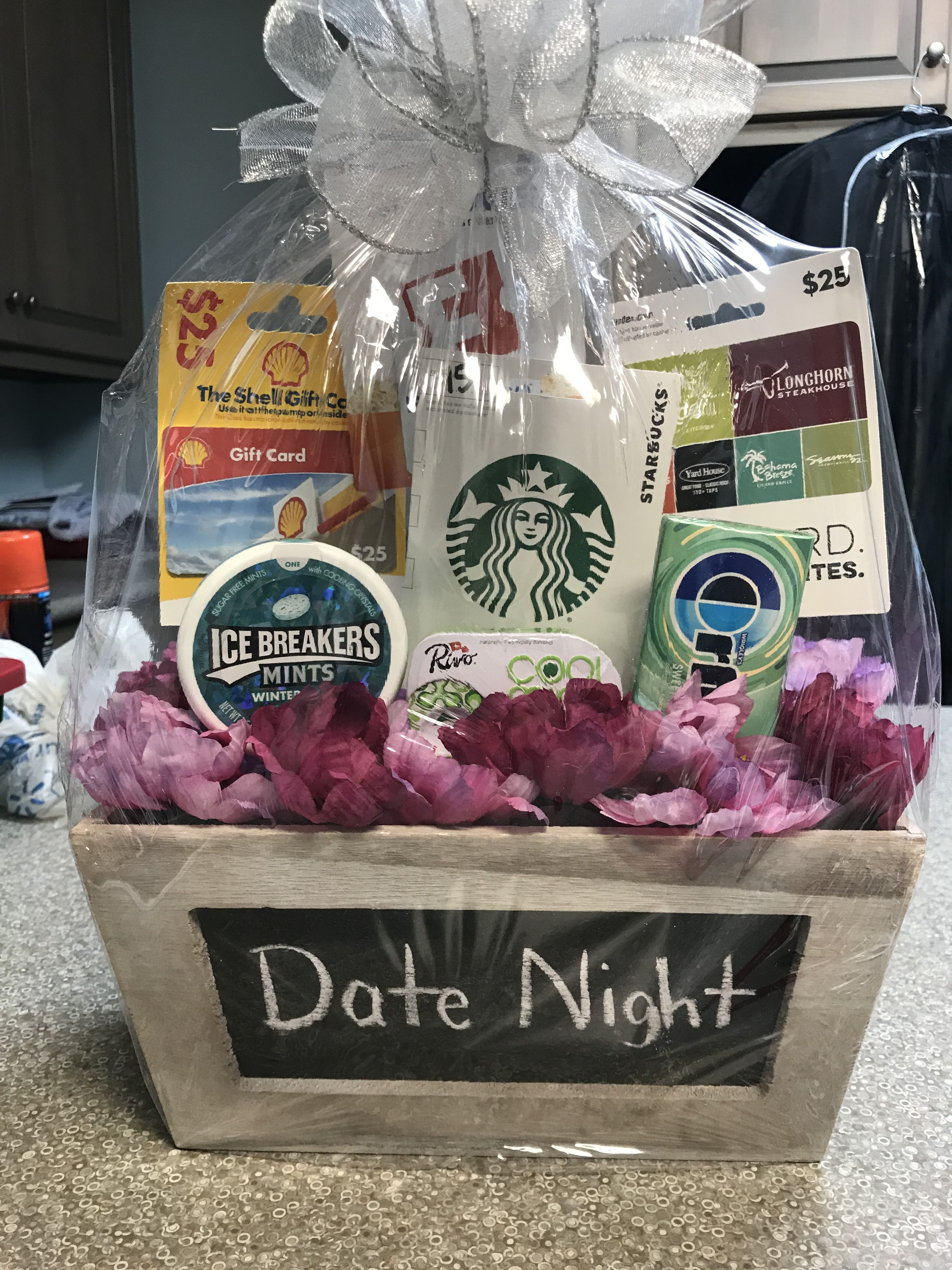 Date Night Basket For Fundraiser Gift Card Basket Date Night