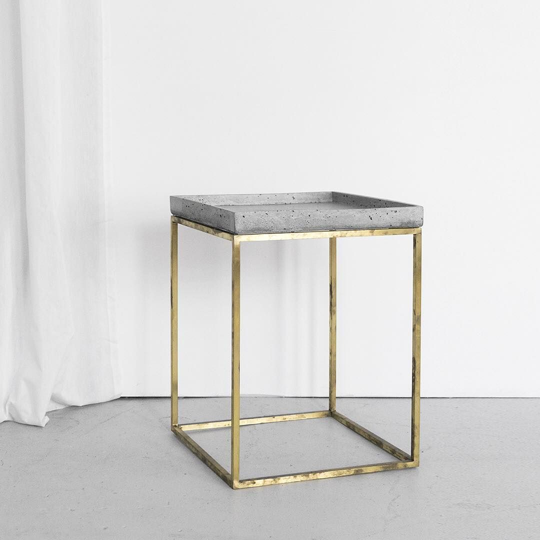Stunning Brass Concrete Side Table By Slabsbydesign Available Online Now