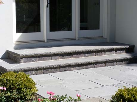 Rock Face Bluestone Step Treads Outdoor Stone Steps